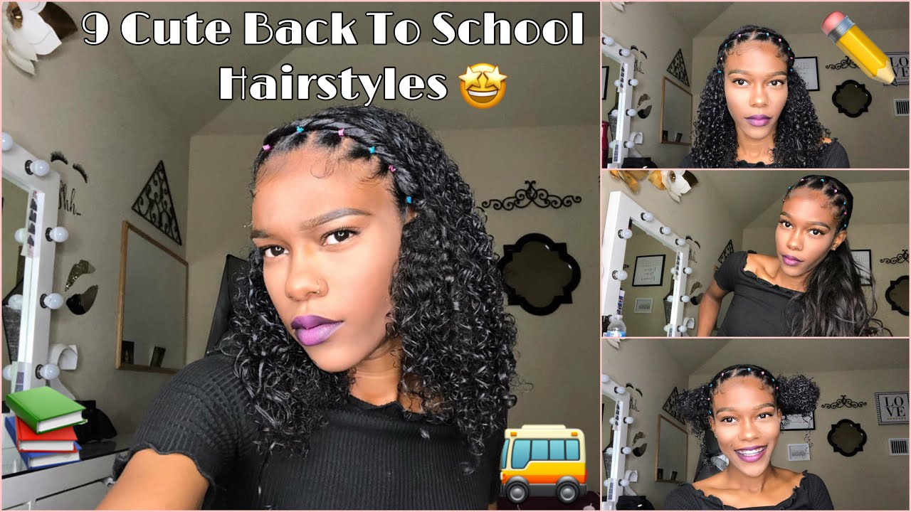 Beginners 9 Easy Cute Back To School Hairstyles Natural Hair