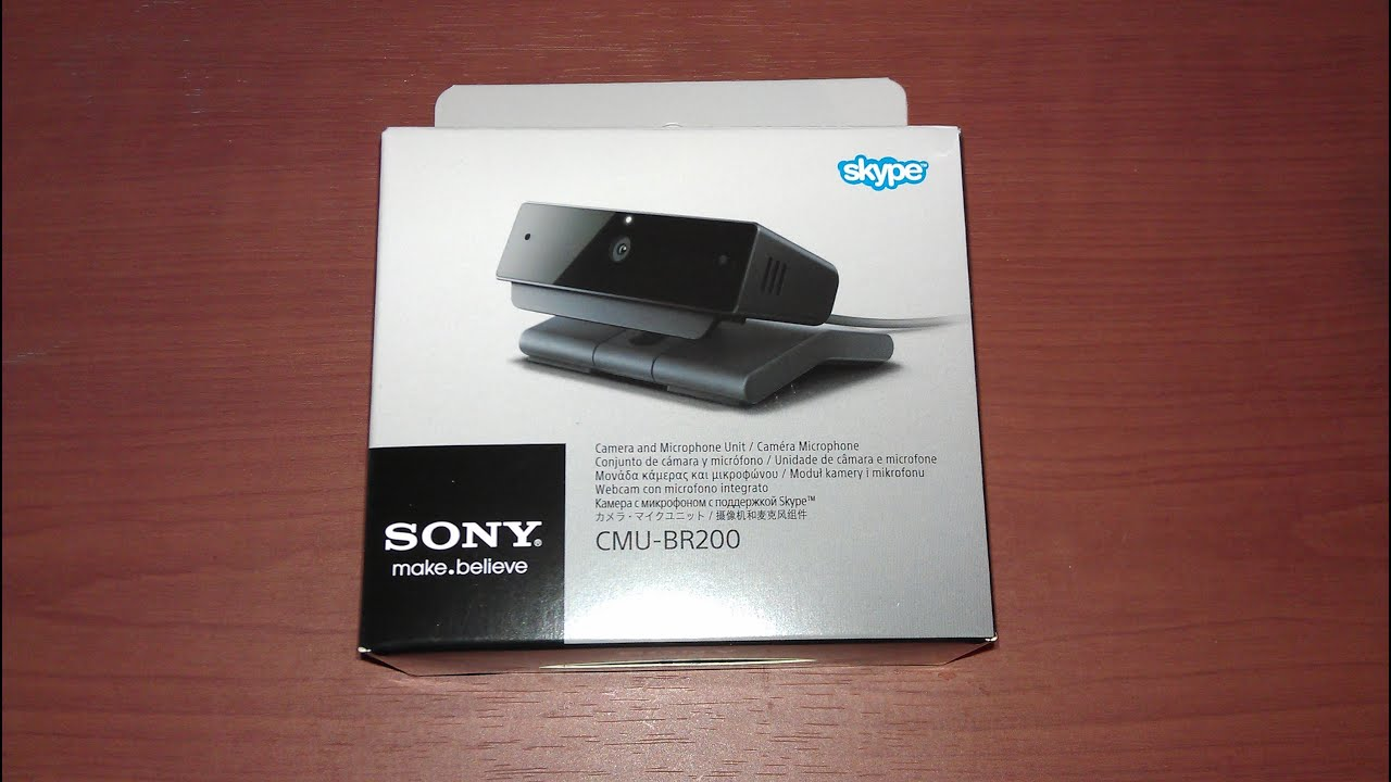 Unboxing sony cmu br200 skype camera smart tv youtube for Camera tv web