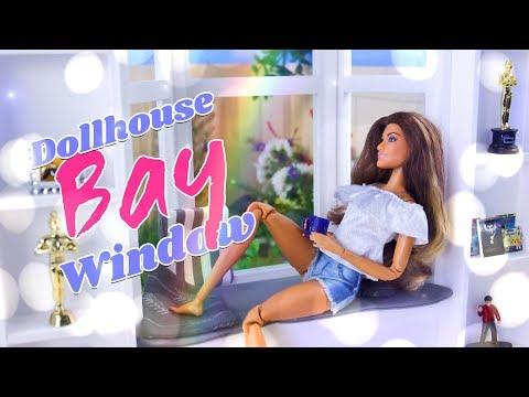 DIY - How to Make: Dollhouse Bay Window | Hardwood Flooring | Shelving and more