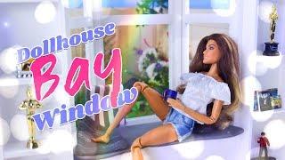 DIY - How to Make: Dollhouse Bay Window   Hardwood Flooring   Shelving and more
