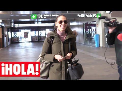 Eva González vuelve a Madrid con una sonrisa y buen humor