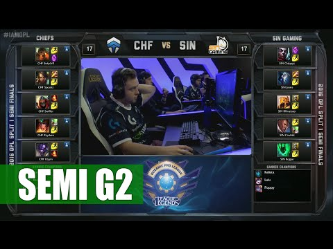 Chiefs vs Sin Gaming | Game 2 Semi Finals OPL Spring 2016 | CHF vs SIN G2