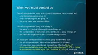 NSW Local Council By-elections Candidate Information Presentation Part 1