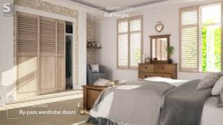 Full Height Bedroom Shutters and Wardrobe Doors from S:CRAFT