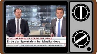 YouTube beendet Streit mit GEMA | Fernsehauftritt bei n-tv