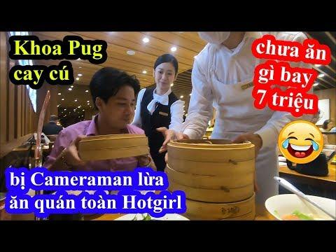 Nhà hàng toàn Hotgirl phục vụ ở Đài Loan - Khoa Pug cay cú bị cameraman lừa chưa ăn gì bay 7 triệu