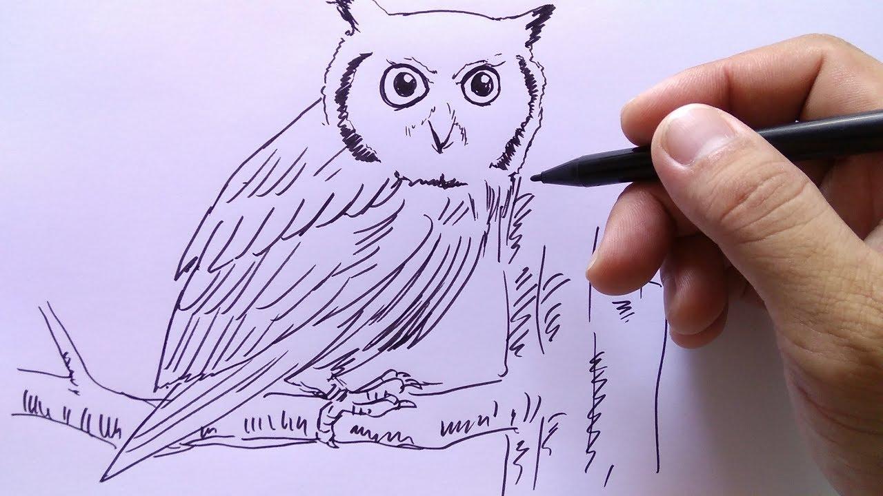 Lukisan Burung Hantu Keren