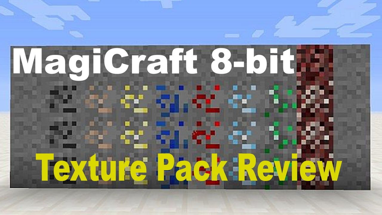 Minecraft 1 7 9 Magicraft 8 Bit 8x8 Texture Pack Review Youtube