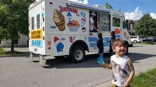 Baby Zack Buying Ice Cream from the Ice Cream Truck in real life