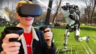 MEETING THE BOSTON DYNAMICS ROBOTS IN VIRTUAL REALITY   Within VR (Oculus Quest Experience)