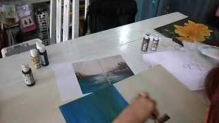 Pintando Marina Abstracta: Profesorado de Pintura Decorativa Coronda