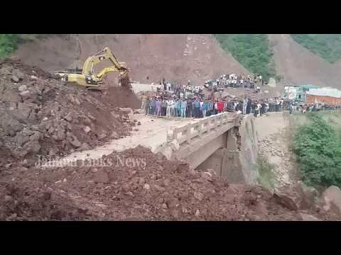 Jammu-Srinagar highway blocked after landslide hits bridge