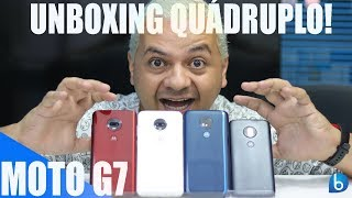UNBOXING QUÁDRUPLO! MOTO G7 | MOTO G7 PLUS | MOTO G7 POWER | MOTO G7 PLAY!!!