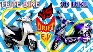 Electric Bikes NEPAL Drift Battle Challange - FLITE Scooter /VS/ 3D BIKE
