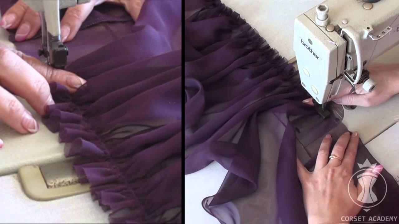 Как самой сшить юбку из шифона