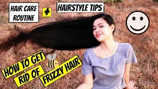 How To Get Rid Of Frizzy Hair -Step By Step Hair Care Routine Guide And Hairstyle Tips