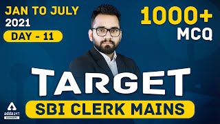Target SBI Clerk 2021 Mains | General Awareness | 1000+ Questions | Day #11
