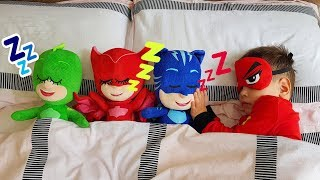 PJ Masks Baby Morning Routine with Toys. Are you Sleeping brother John Nursery Rhyme Song