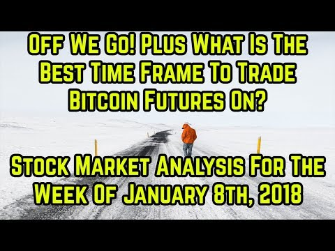 Off we go + the best time frame to trade Bitcoin Futures on?- Stock Market Analysis Week of 1/8/18