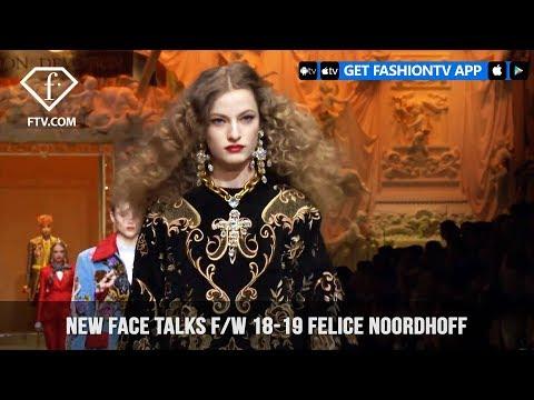 Felice Noordhoff New Face Model Talks Fall/Winter 2018-19   FashionTV   FTV