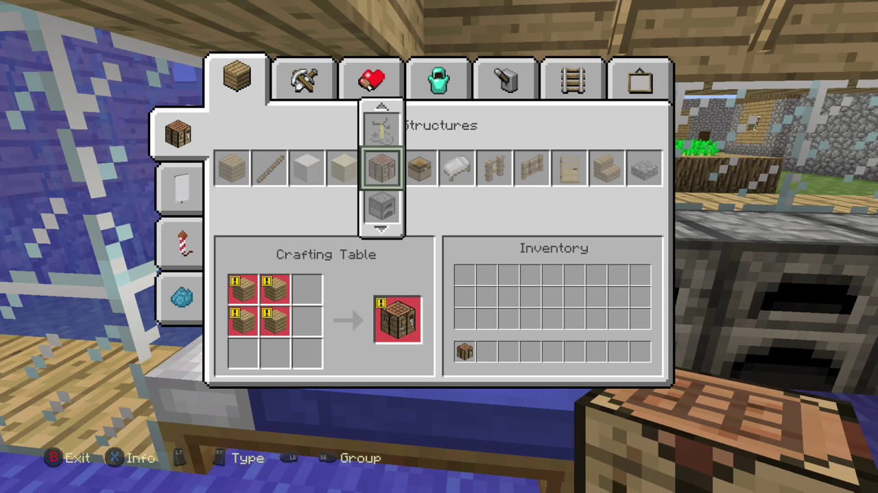 How To Craft A Crafting Table Minecraft Xbox One Edition Youtube