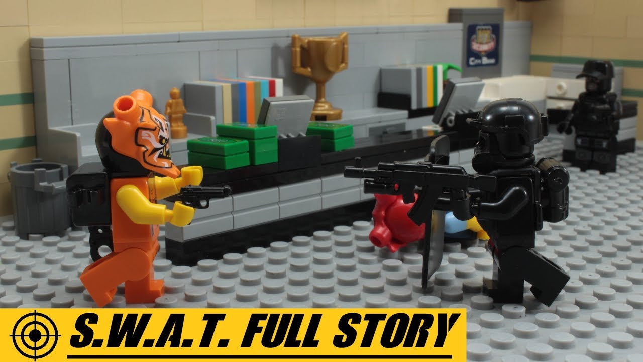 Download Lego Swat FULL STORY - Robbery Adventures of Crooks Stop Motion Animation