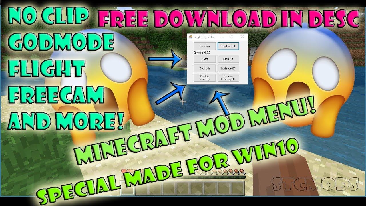 minecraft windows 10 edition mod menu