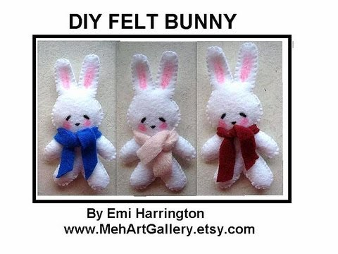 DIY FELT BUNNY, sewing pattern, free download, sewing for beginners ...