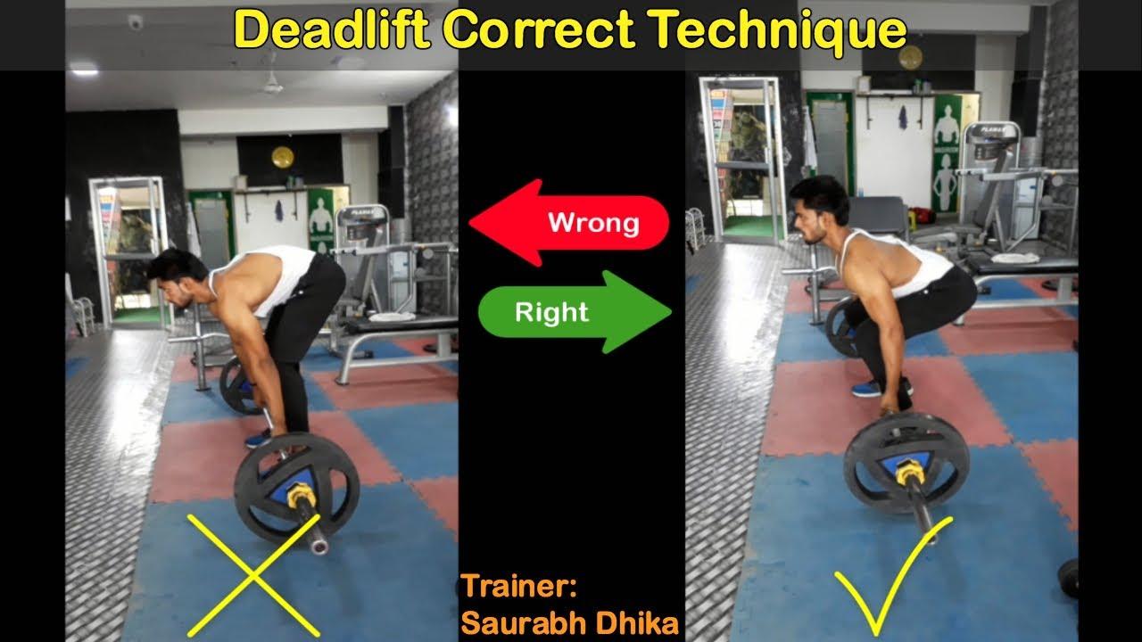 Barbell Deadlift (Rod): Wrong VS Right Form | How to do deadlift ...