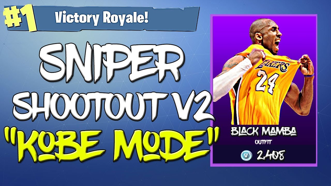 competitive price c4ec7 e8d9b Unlocked the Black Mamba Skin on Fortnite | Sniper Shootout v2 Clutch Win !