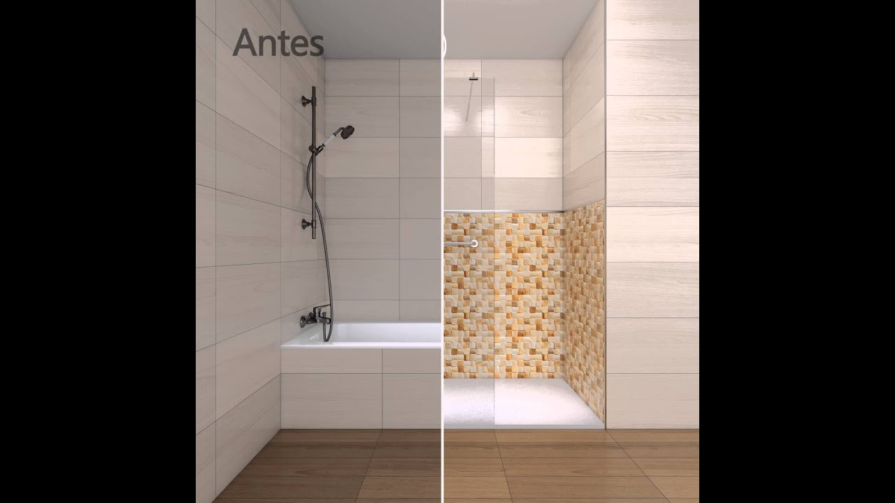 Cambiar ba era por ducha antes y despu s con securibath - Quitar banera y poner plato de ducha ...