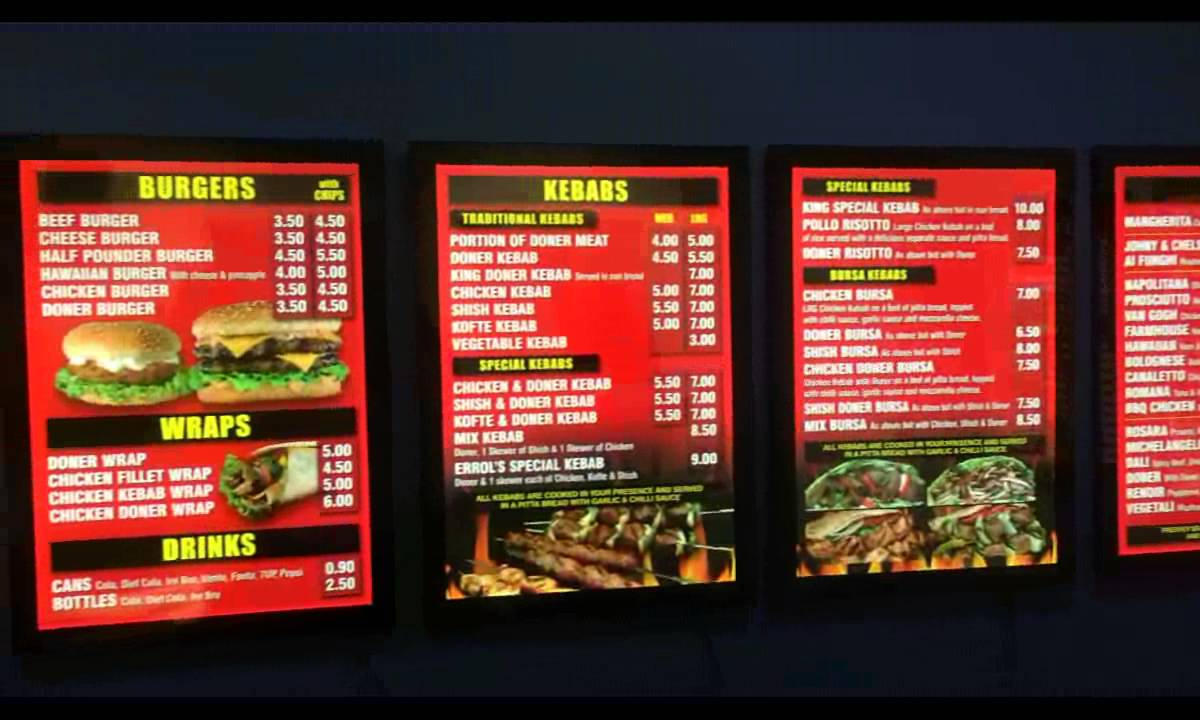 led menu boards lightboxes youtube