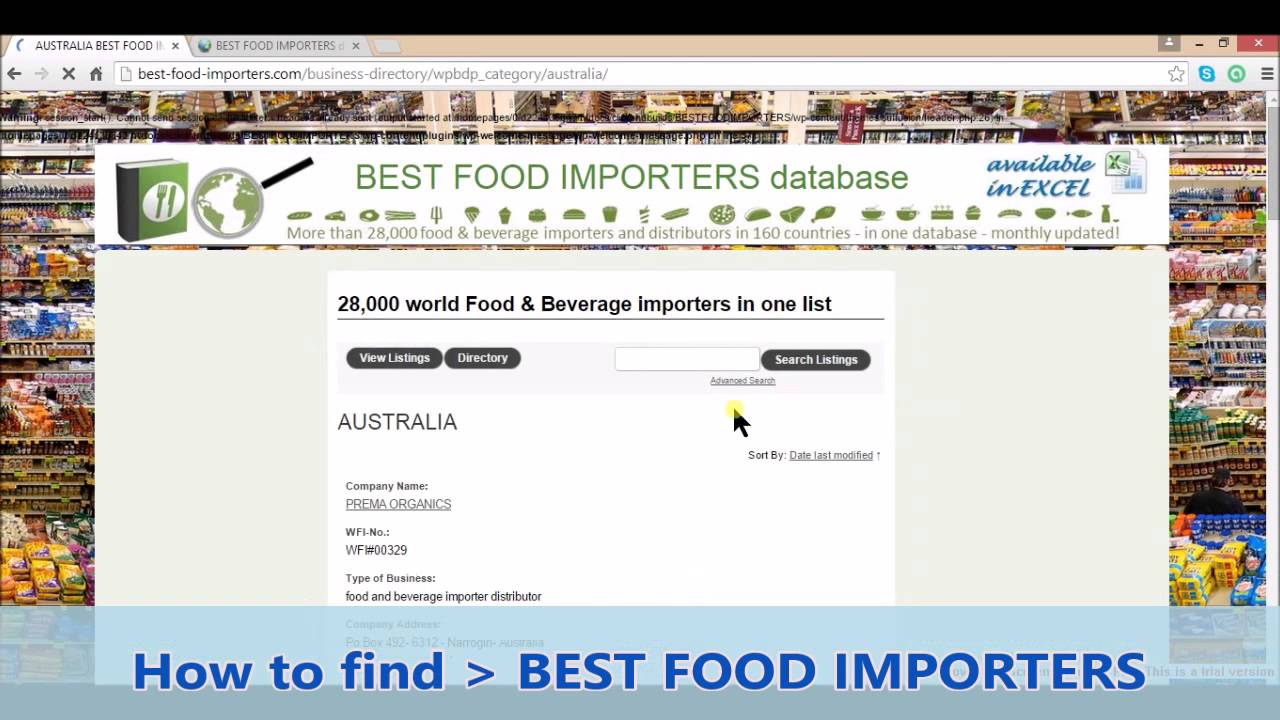 How to find Best Food Importers