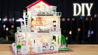 DIY Miniature Dollhouse Kit || Princess Villa - Miniature Land