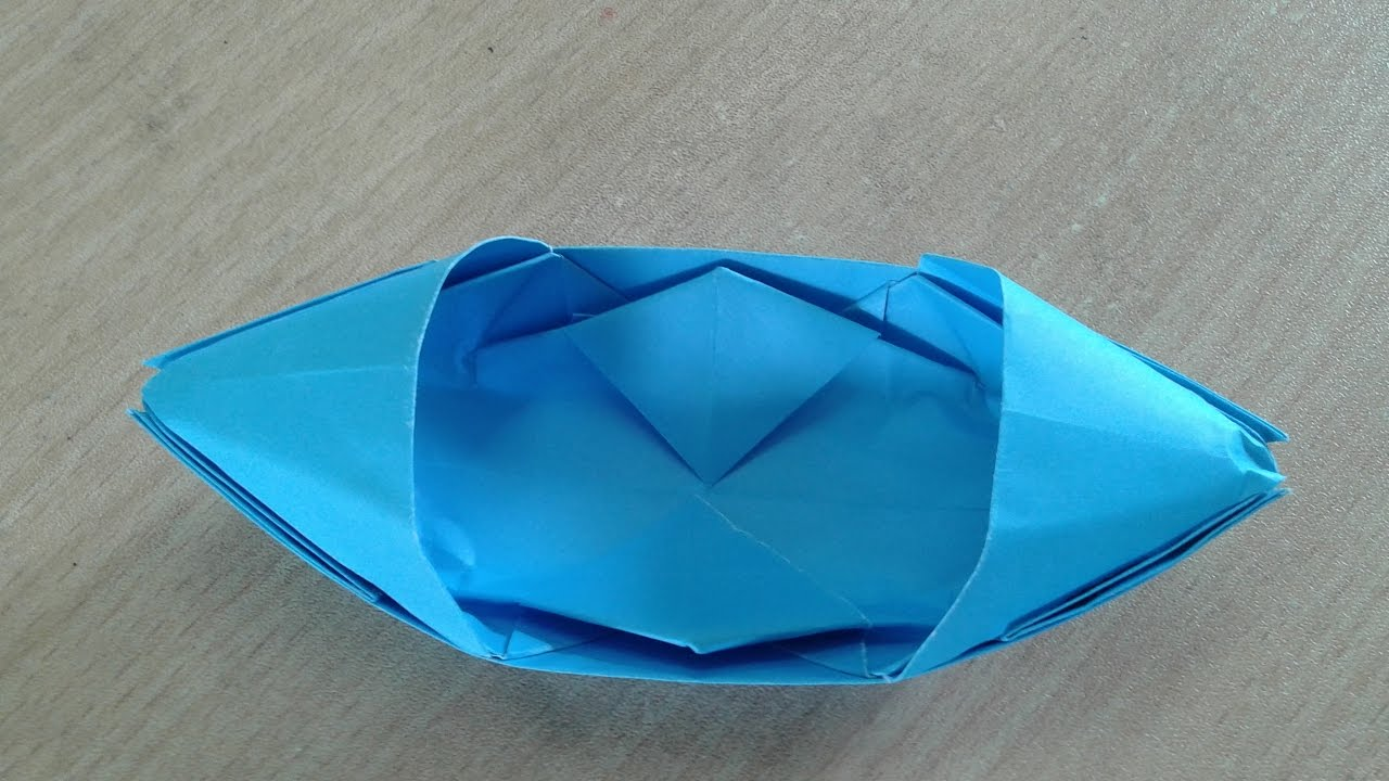 how to make a paper boat that floats easy origami youtube