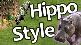 Never Give Up! AoE2 King Of The Hippo Style!