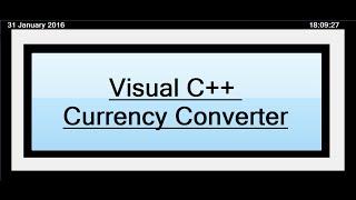 كيفية إنشاء محول العملات في Visual C++