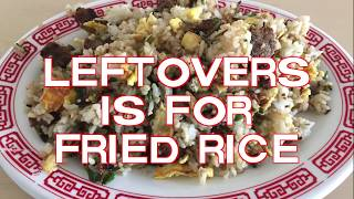 Making Fried Rice with Leftovers! (Beef Fried Rice)
