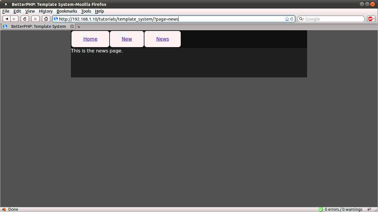 Php Tutorial Basic Template System Part 02