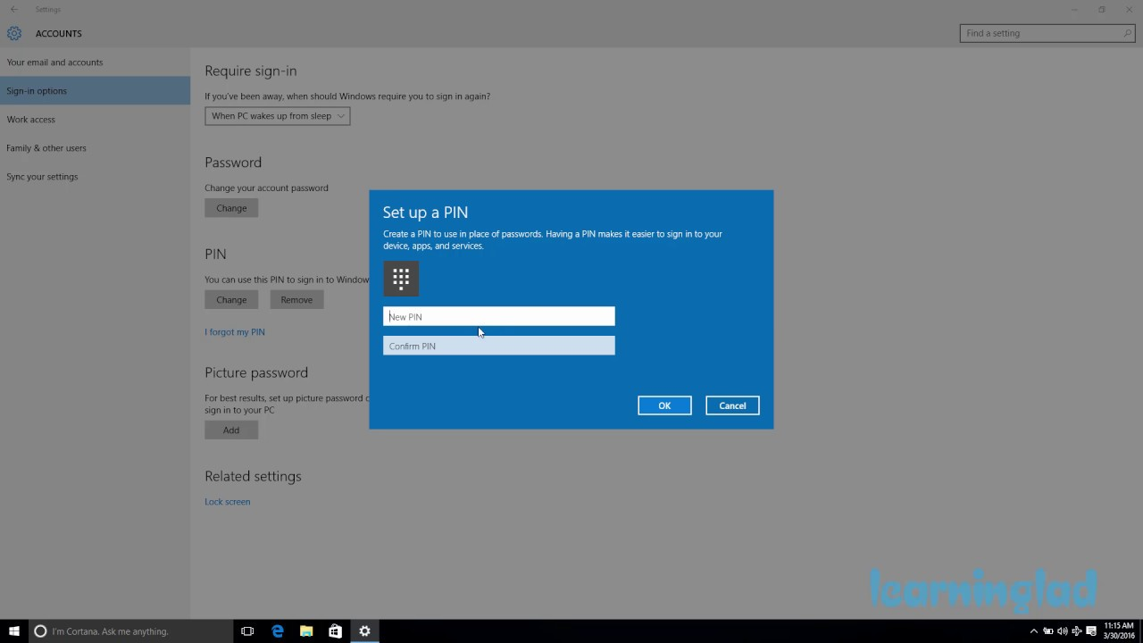 How To Change The Pin Number In Windows 10 How to Add a PIN