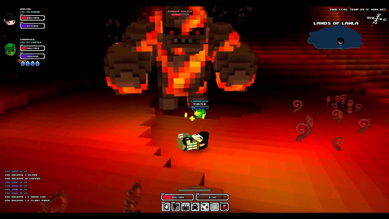 Cube World Boss Ember Golem Fight