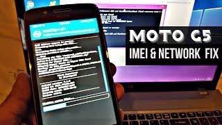 Moto G5 Cedric Missing imei & Broken Network Fix
