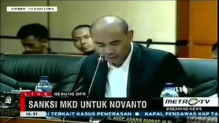 Berita 17 Desember 2015   Victor Bungtilu Laiskodat membacakan pendapat fraksi nasdem atas pelanggar