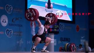 Khetag Khugaev (94) - 180kg Snatch / 219kg Clean & Jerk @ 17 years old