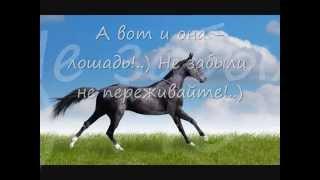 Далеко далеко ускакала в поле молодая лошадь, Far away ran young horse.