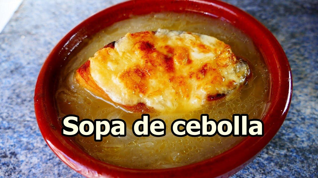 Sopa de cebolla gratinada recetas de cocina faciles y for Comidas rapidas de preparar