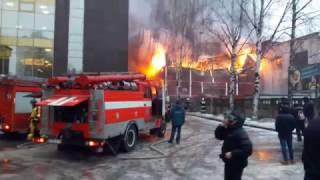 Пожар Скалодром Rock Town в Петербурге !