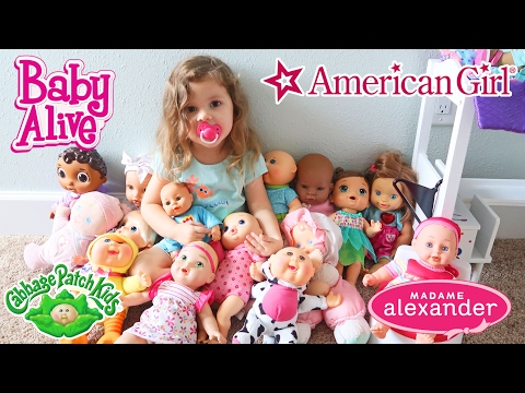 Chelseas Baby Doll Collection American Girl, Baby Alive, Cabbage Patch Kids
