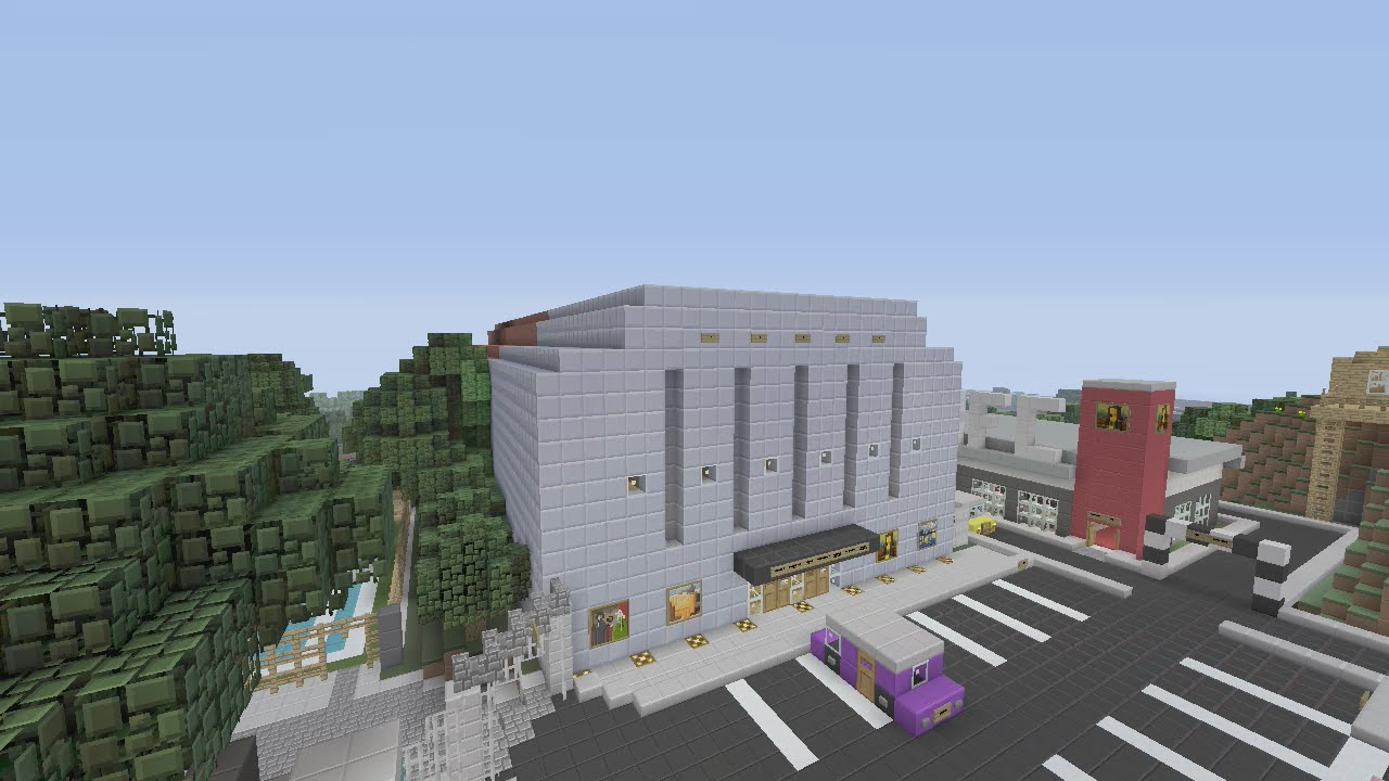 Minecraft Xbox Plaza Cinema Movie Theatre Youtube
