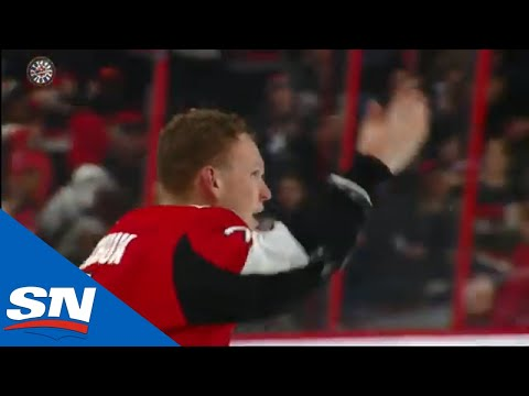 Brady Tkachuk Takes Exception To Hit, Instantly Drops Gloves